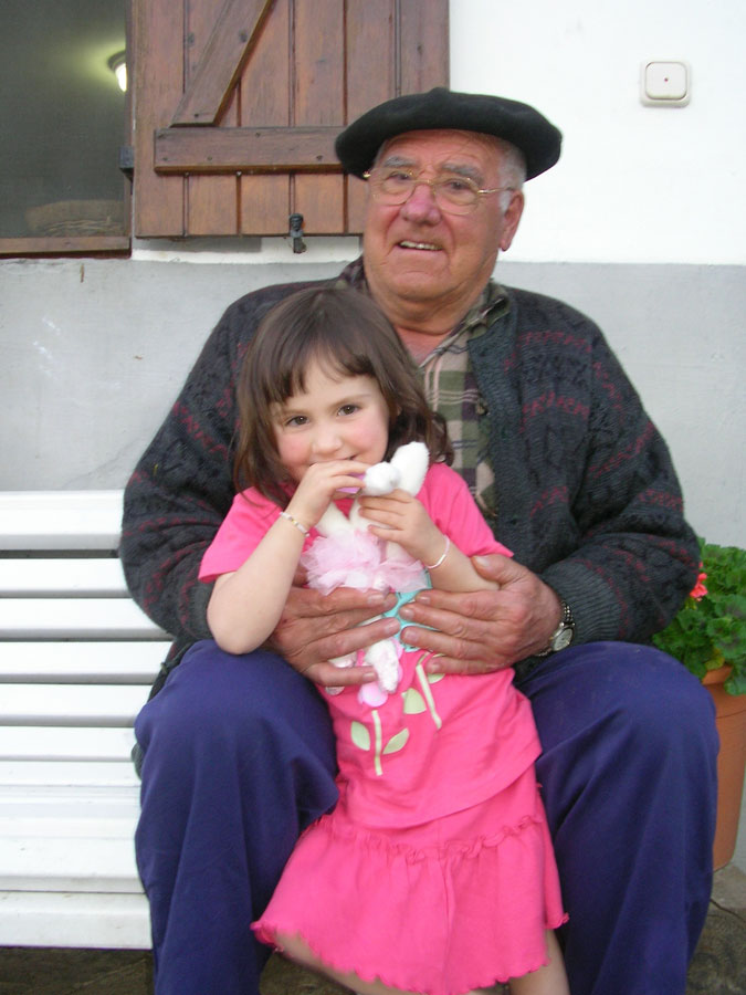 Atautxi with my daughter (his adopted grand daughter) Marion. 2008
