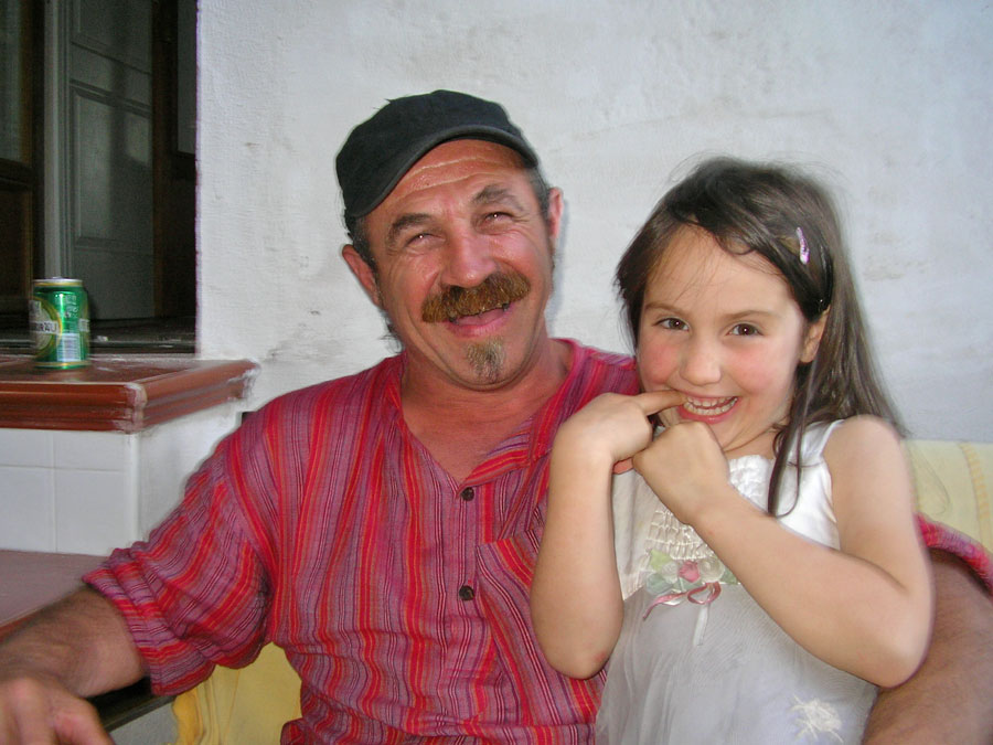 Koikili and my daughter, Marion, 6, at our Pyrenean mountain home