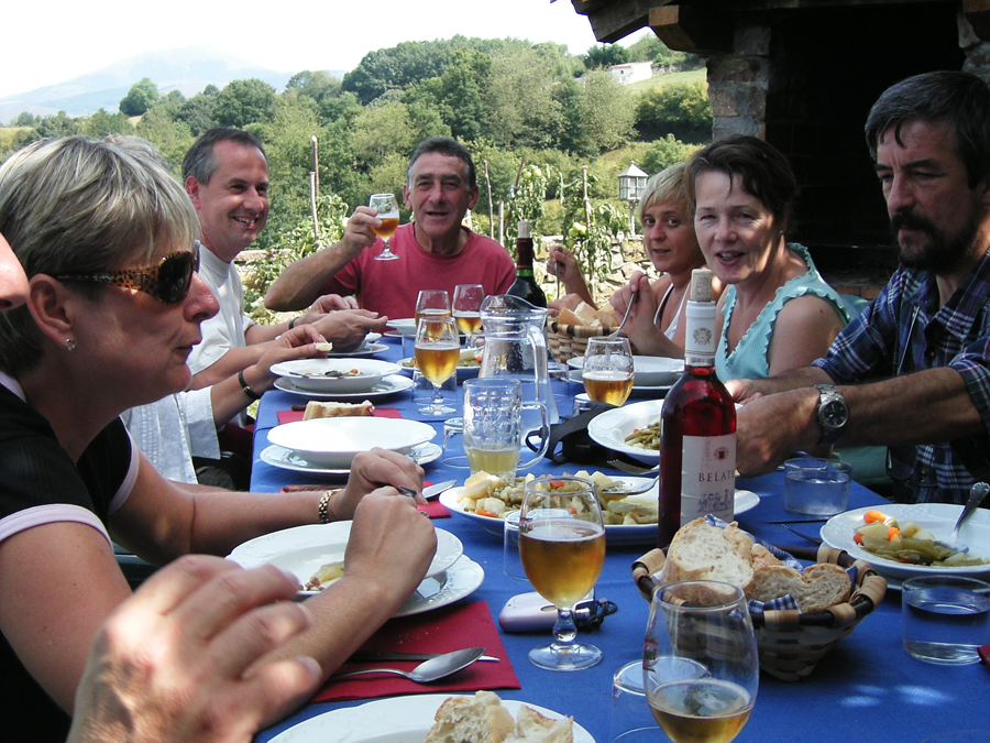 Lunch in Ziga, in the Spanish Basque country