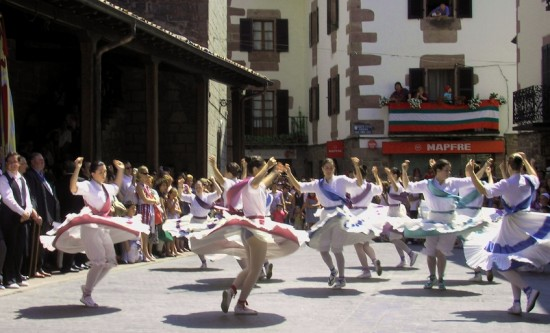 Summer fiestas in Santesteban