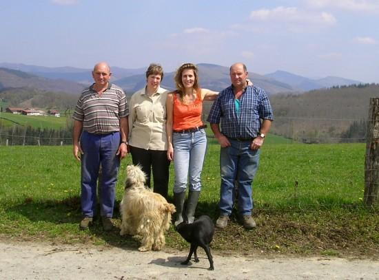 Ignacio, Sagrario, Me and Luis at Sumbillanea in Ameztia