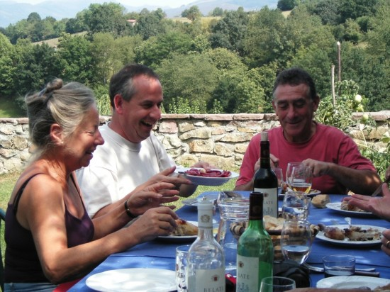 Making friends over a Spanish lunch in the Pyrenees