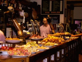 Pintxo bar in San Sebastian