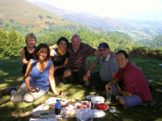 Picnic in Etxalar on our Basque gastronomy & walking holidays in the Pyrenees