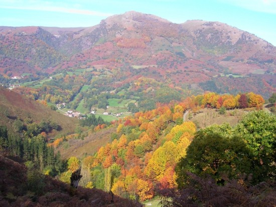 Views of Ituren from our hamlet of Ameztia