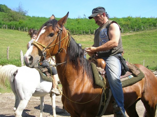Koikili on his horse ranch in Lesaka