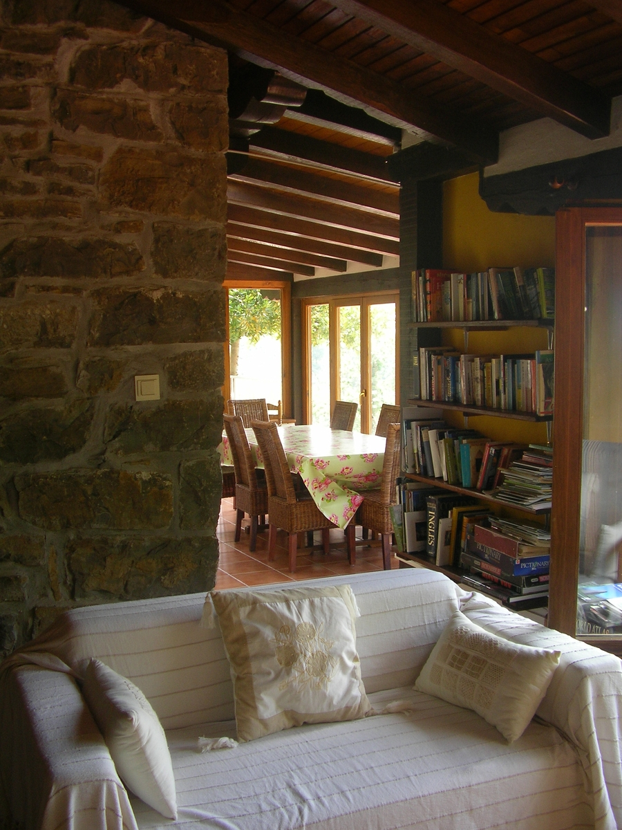 Our Basque cottage library and snug