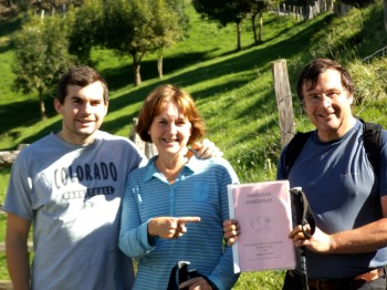Trying out our Self-Guided Walks in the Pyrenees: Robert, Alison and Will