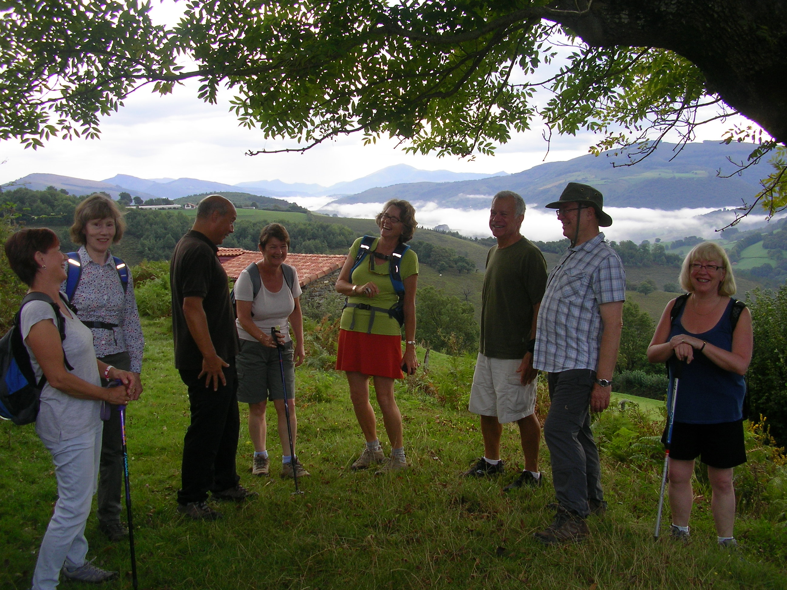 One of our Basque Country hiking groups in 2014