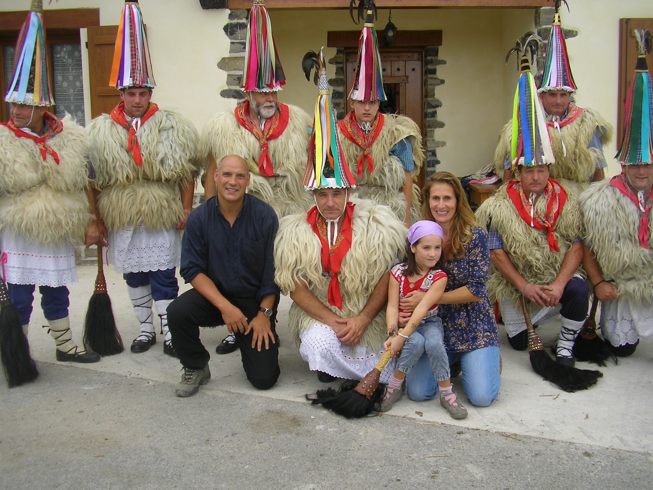 Me, Marion and Iñaki with out neighbours in Ituren