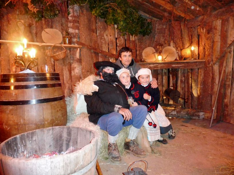 Olentzero on Christmas Eve in Ituren