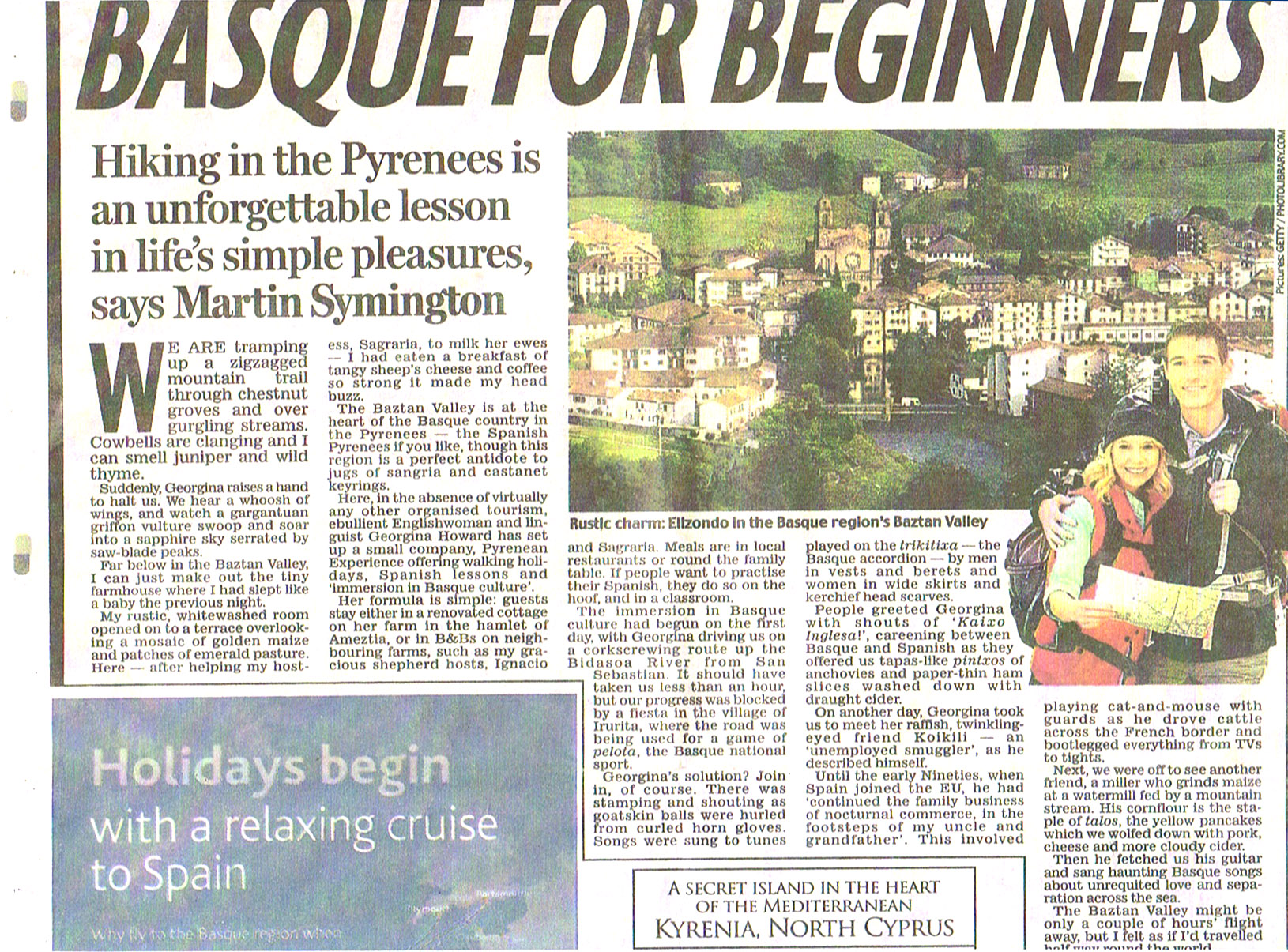 Daily Mail article about the Pyrenean Experience