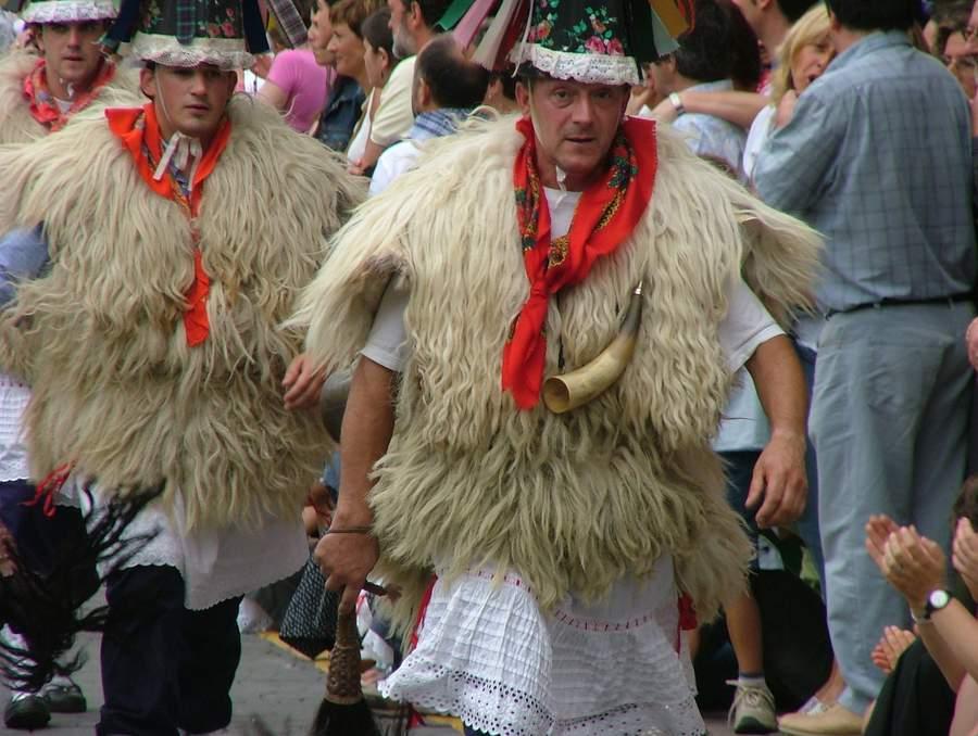 The Joaldunak from the Ituren carnivals