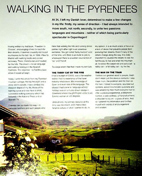 Georgina Howard, article from Executive Woman magazine