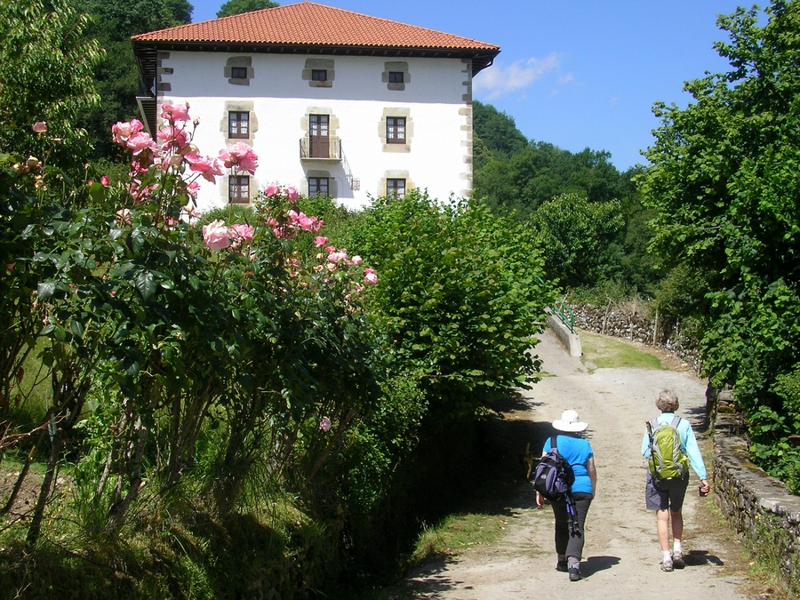 Walking into Ituren - a traditional Basque village in the Spanish Pyrenees