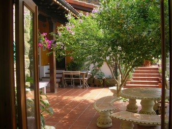 terracefromborda 350x262 - Beautiful Basque Country Farmhouse B & B  - with a tortoise on the tap