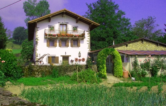 zubialdeagarden 550x352 - The Basque House - a mixed blessing.