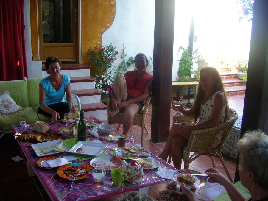 Spanish tapas on our terrace