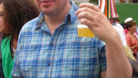 Cider drinking at the mushroom fiestas in Elgorriaga