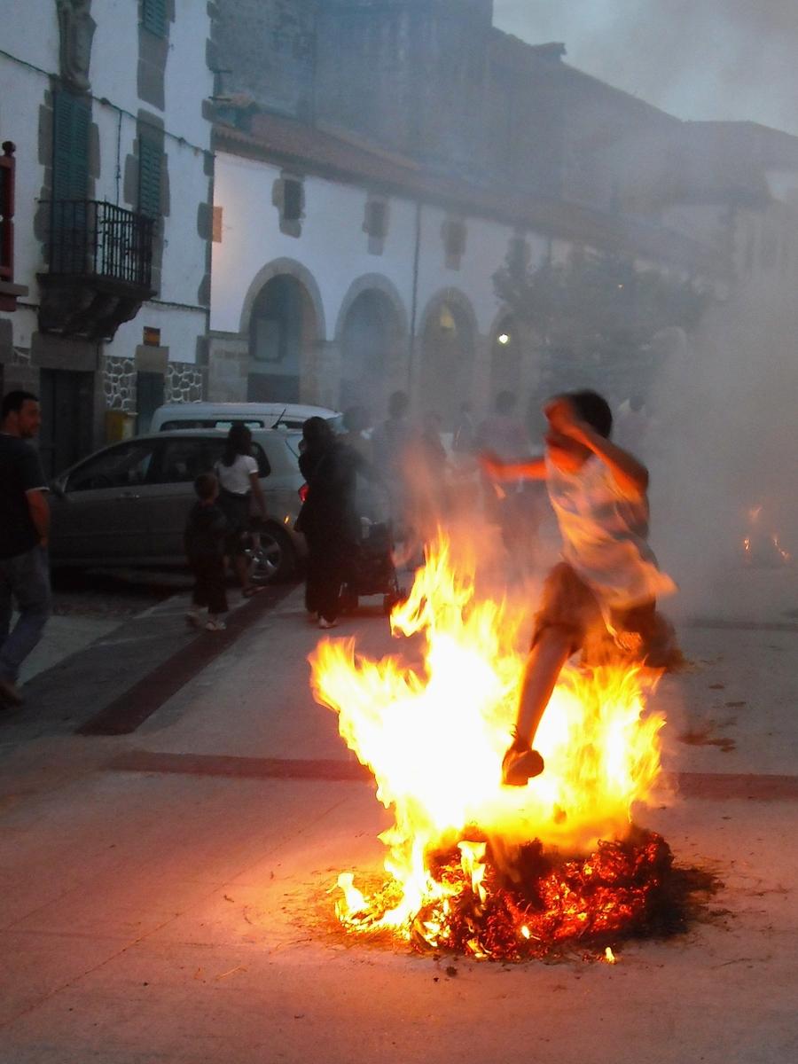 Pagan midsummer's fires in Arizkun