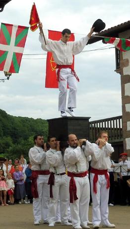 Basque dancing in Amaiur