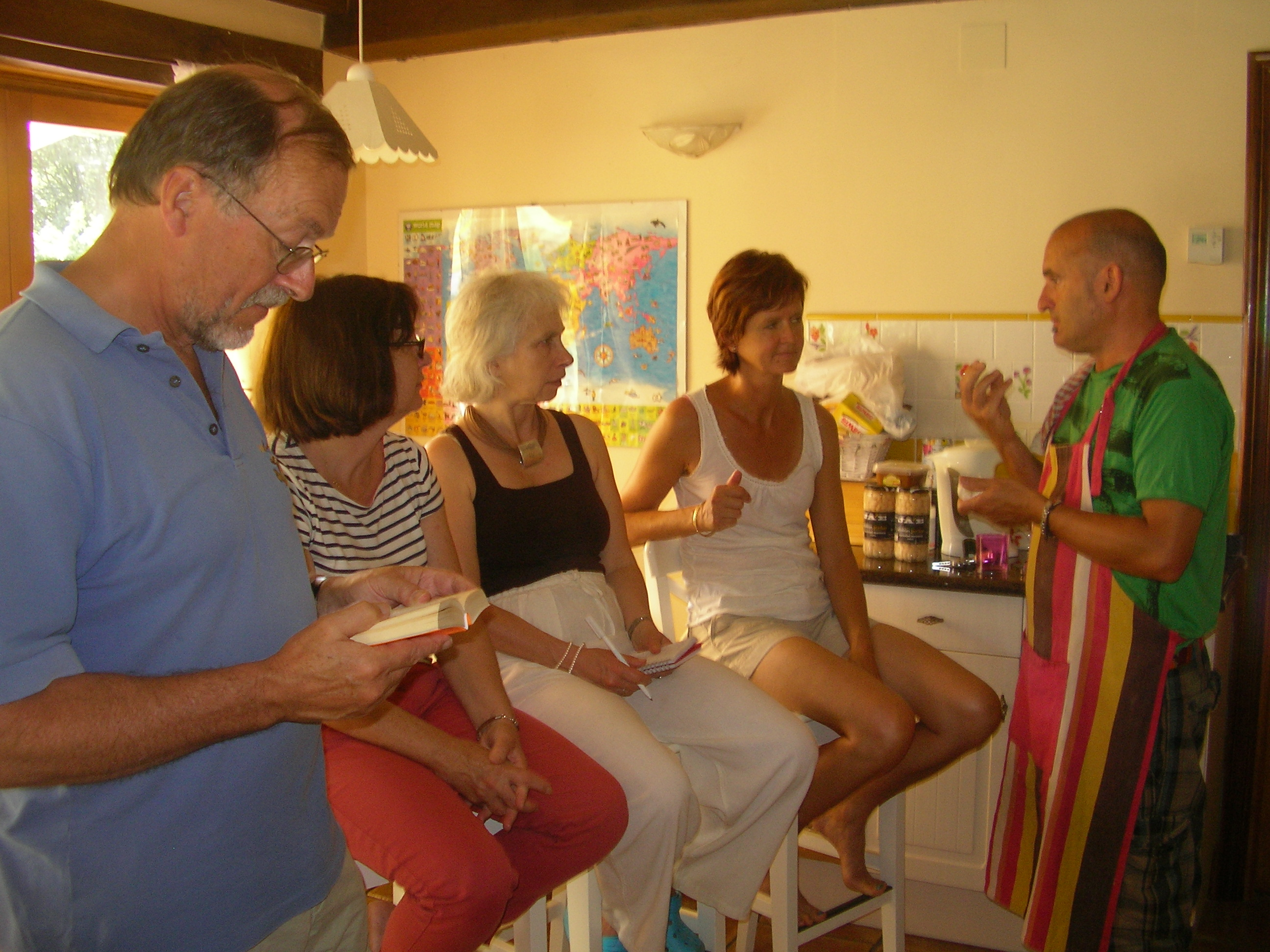 Spanish and cooking demonstration