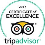 Tripadvisor  certificate of excellence 2017