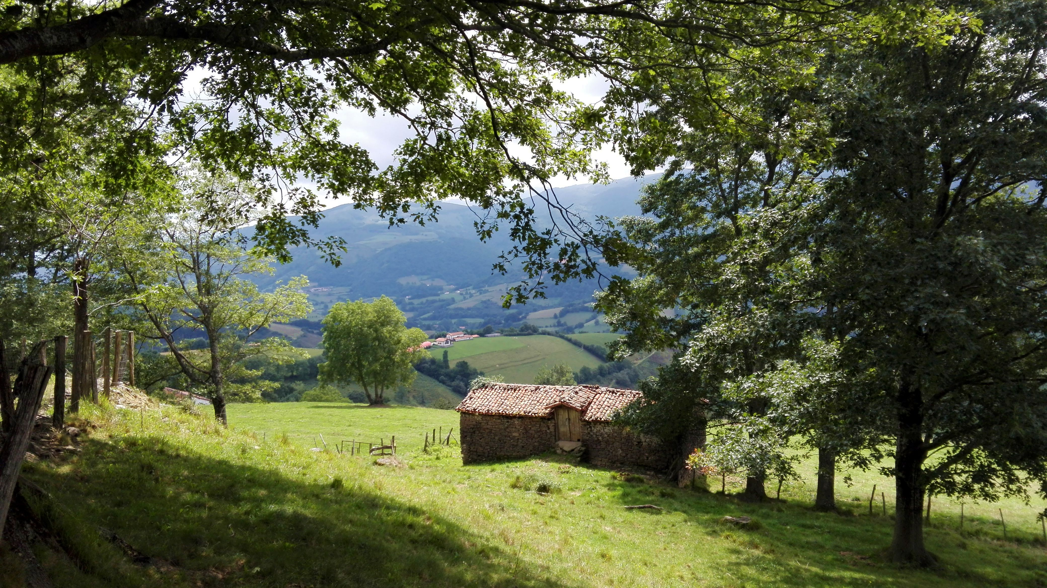 Mountain barns in the Pyrenees