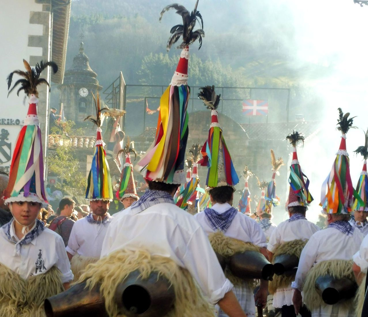 Basque ancient festival in the Pyrenees in the village of Zubieta