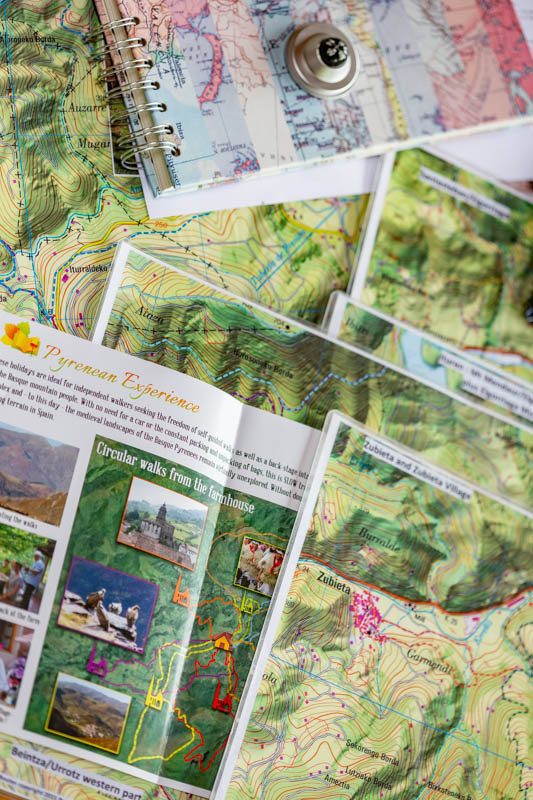 Self-guided walking maps from Basque Country Pyrenees