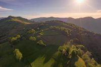 pyrenean experience sunset over the valley on our guided walking holidays in the Pyrenees