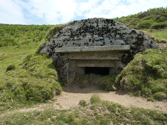 One of many concrete bunkers built on the Spanish side of the Pyrenees