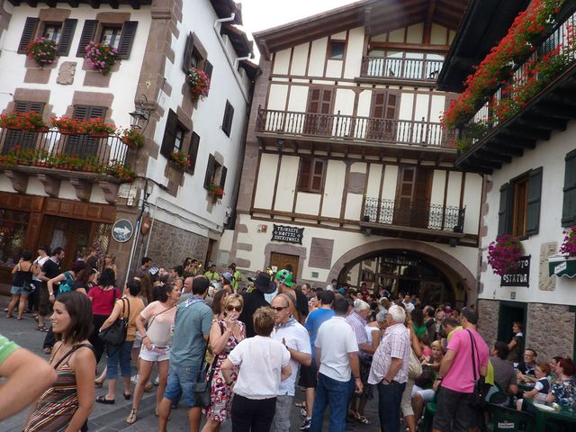 Fiesta time in Elizondo the capital of the Baztan valley