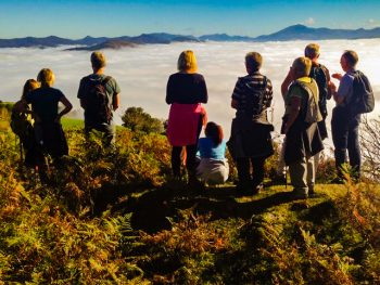Walking group in the Basque Pyrenees above the mist edited 350x263 - The Baztan Trilogy, Dolores Redondo - are we ready?