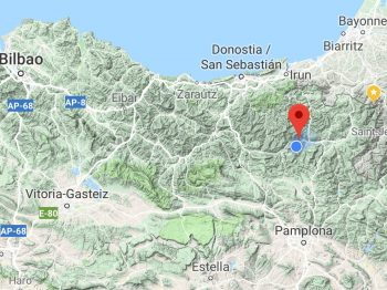 Mapoflocation 350x262 - House to Rent in Baztan Valley Paradise