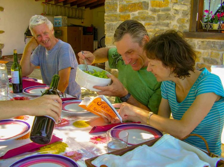 English lessons over lunch in Ituren