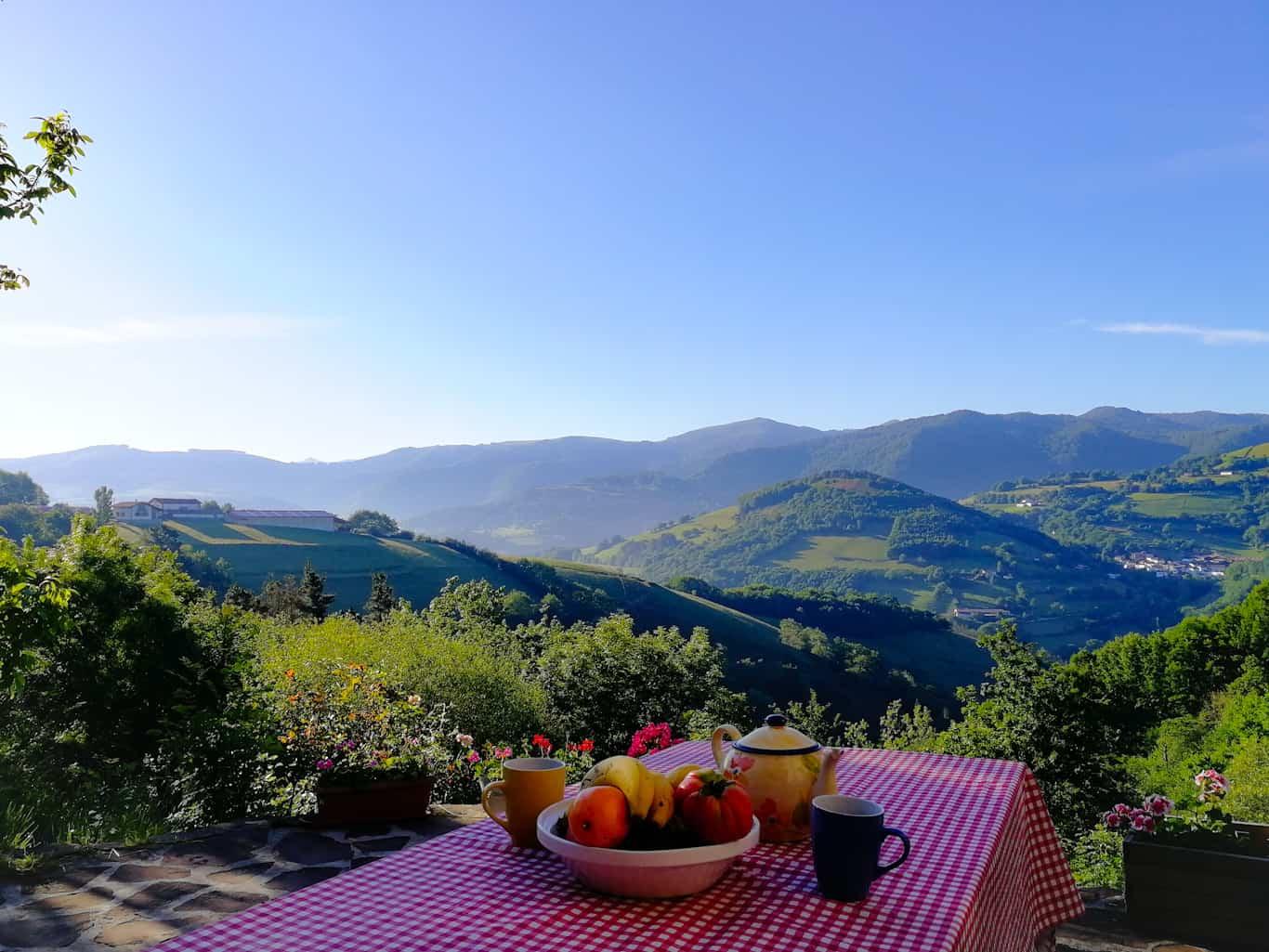 Breakfast in the Baztan Valley