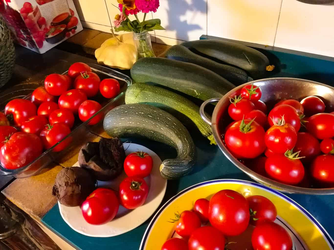 fresh produce for dinner in the Basque Country