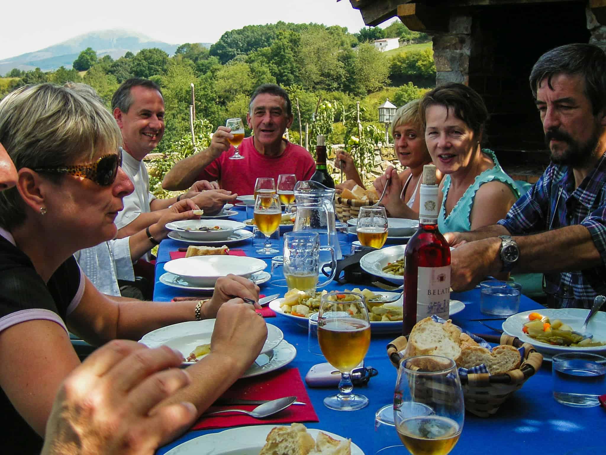 dinner paarty in Ziga Baztan Valley