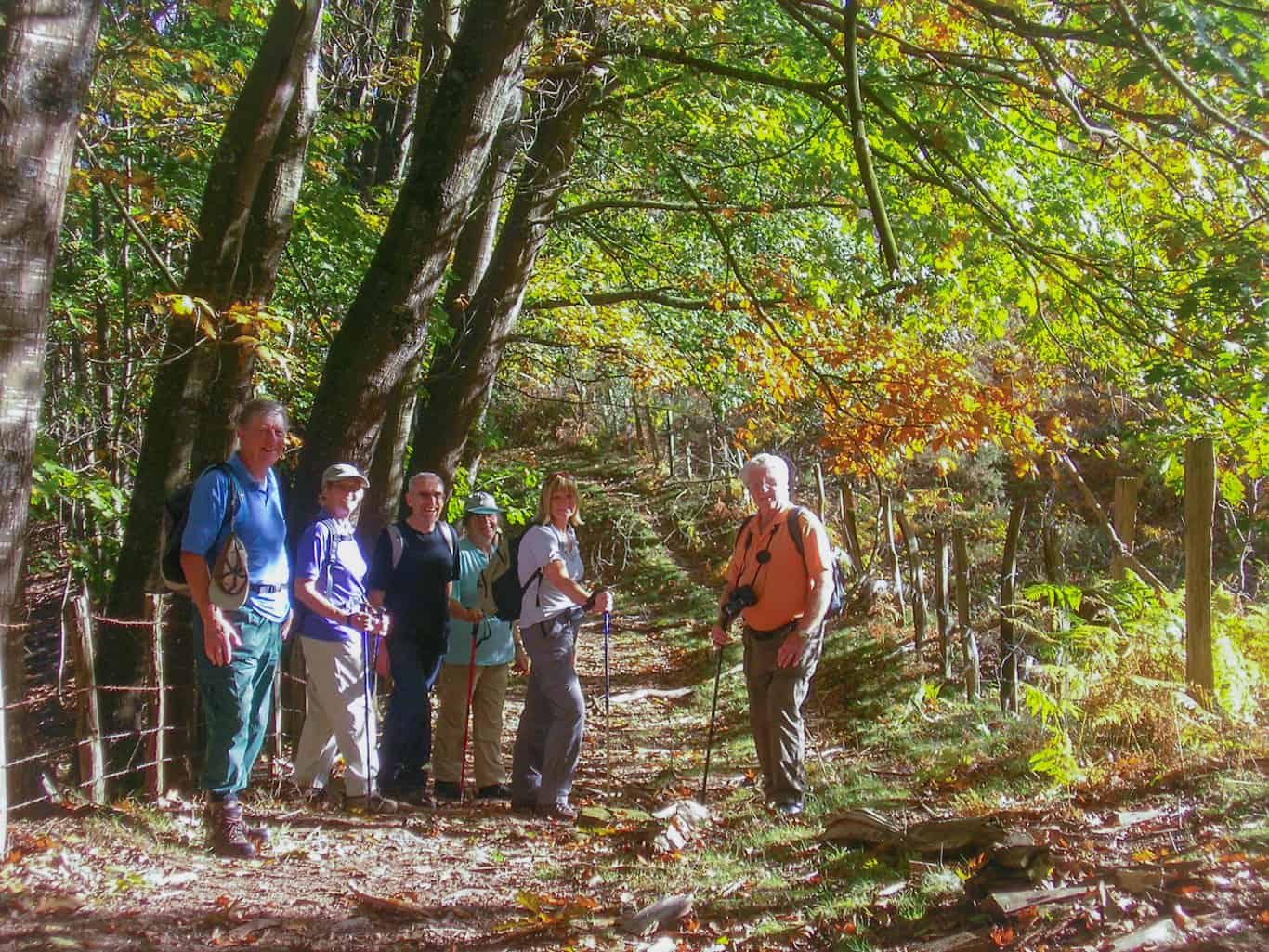 Autumn colours on our self-guided walking holidays in the Pyrenees