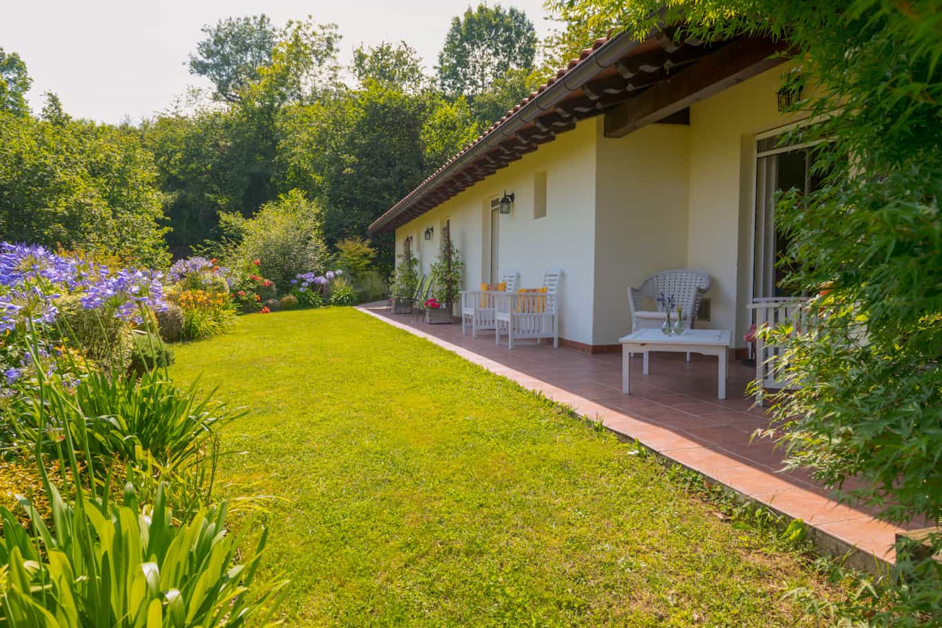 Guesthouse gardens in the Pyrenees