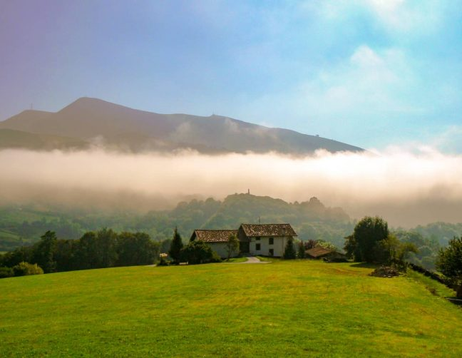Mists in the Baztan Valley near Amaiur