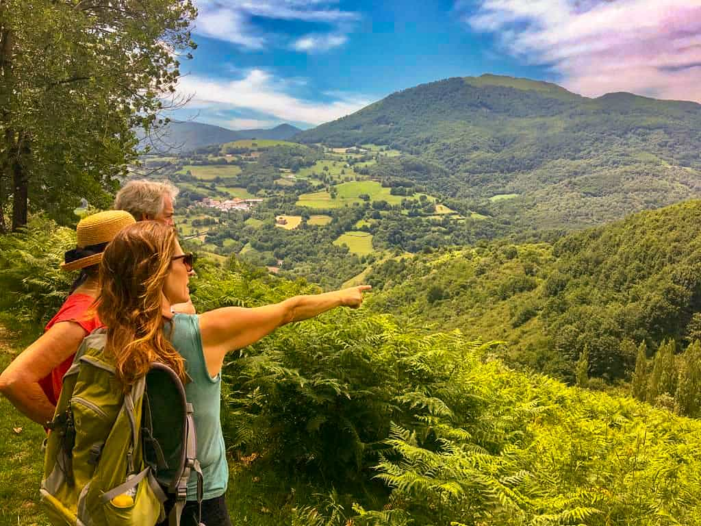 Georgina guiding her private walking holidays in the Pyrenees