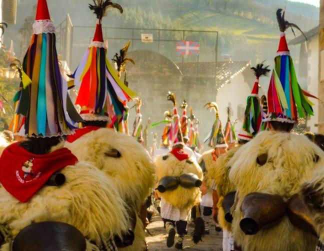 Joaldunak of Ituren carnival